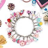 Lorfancy 24 Charm Bracelet Necklace for Girls Women Jewelry DIY Charm for Christmas Advent Gift Kids Jewelry Making Kit
