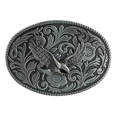 Faleto Cool Tête Boucle de Ceinture Accessoire Homme Style Western Cowboy  en Alliage de Zinc Solide c9c03092b74