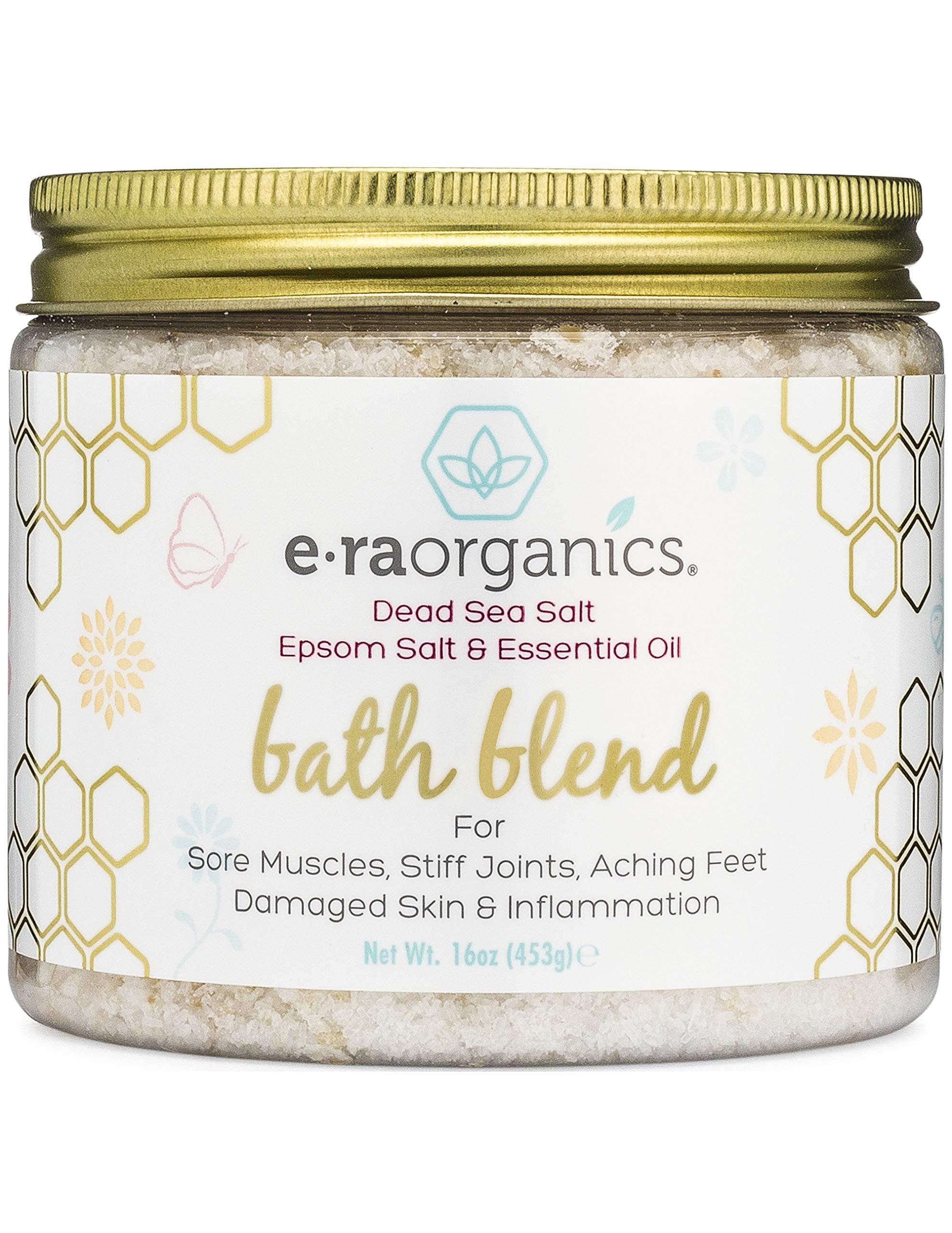 Relaxing Bath Salts & Essential Oils – Extra Soothing Spa Quality Epsom Salt, Dead Sea Salt & Essential Oil Blend For Sore Muscles, Swollen Feet, Sitz Bath for Hemorrhoids & More.
