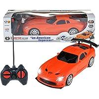 Wish key Plastic Remote Control High Speed Racing American Super Car for Kids (Orange)