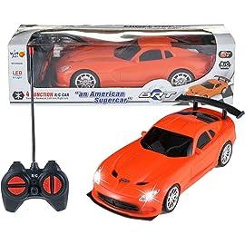 Wishkey Remote Control High Speed Racing American Orange Super Car for Kids