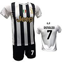 DND DI D'ANDOLFO CIRO Home Ronaldo 7 CR7 - Conjunto de fútbol, camiseta blanca y pantalón corto con número 7, estampado…