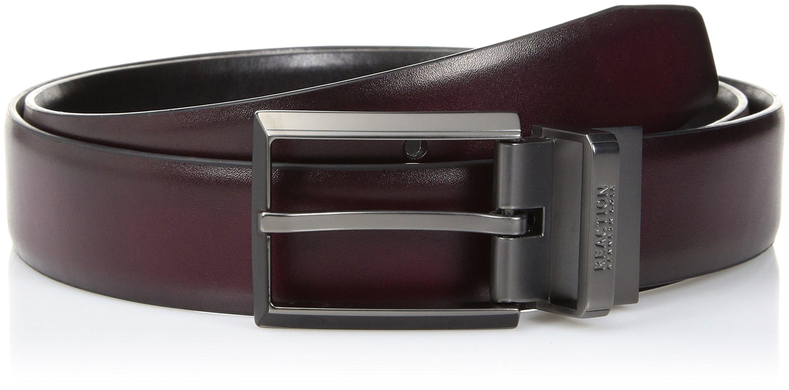Kenneth Cole Men's Reversible Dress Belt, Burgundy/Black, 34