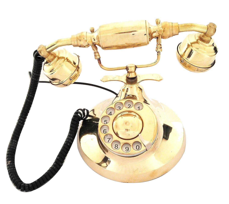 Artshai golden brass decorative landline telephone with rotary dial Artshai2772