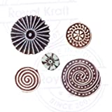 Royal Kraft Spiral and Floral Wood Block Stamps