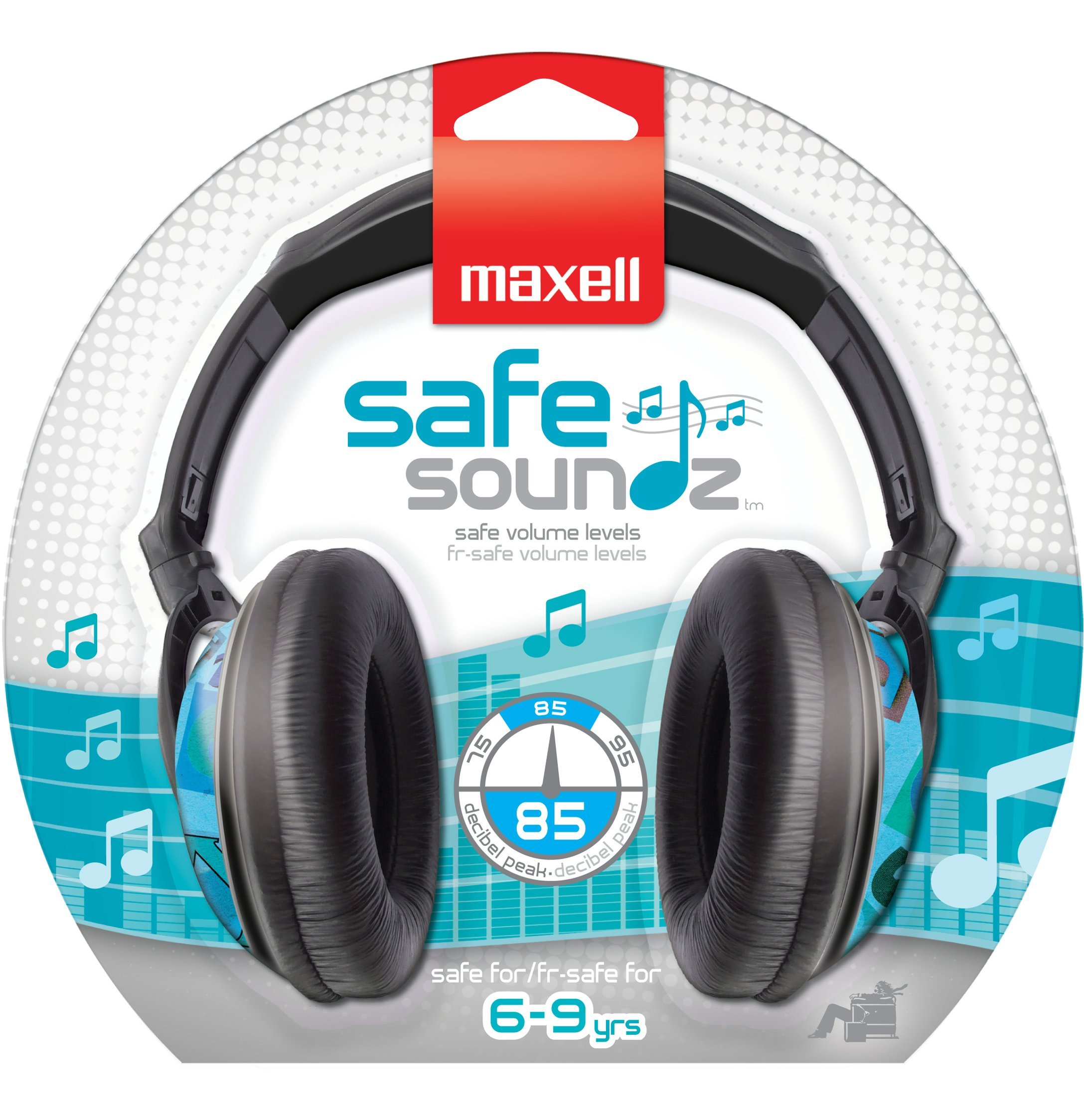 Maxell 190297 Wired Comfortable Over The Ears Safe Volume For Kids Safe Soundz Headphones 6-9 Boys