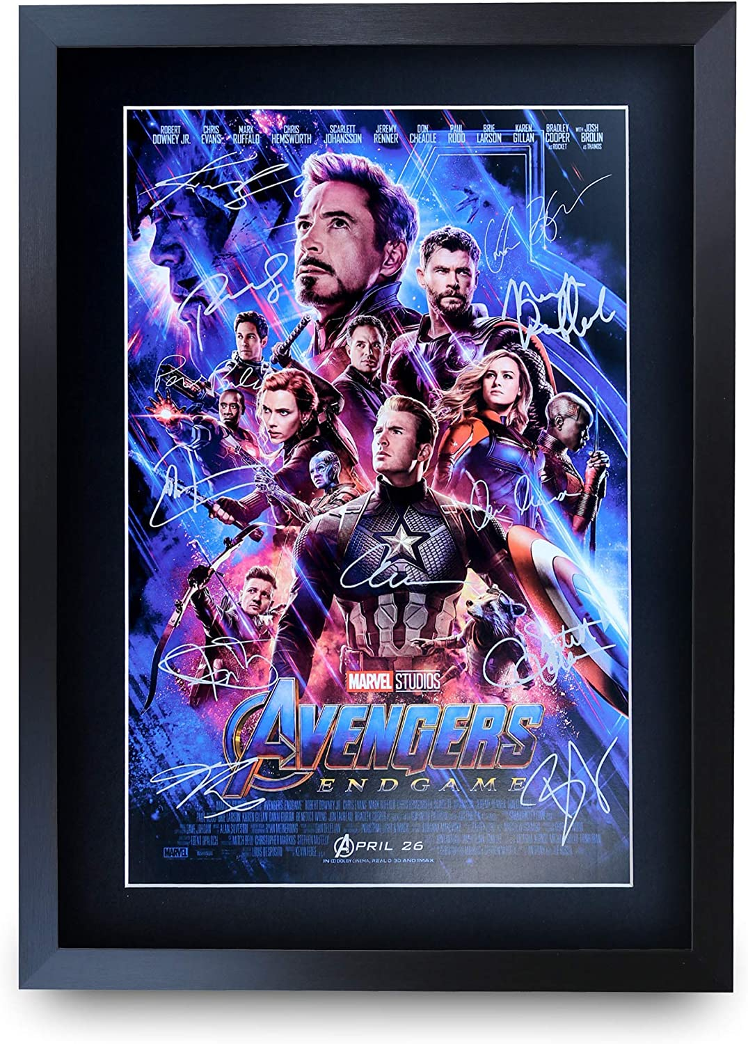 Hwc Trading A3 Fr Avengers Endgame Movie Poster Cast Signed Printed Autograph Marvel Gifts Captain America Ironman Thor Print Photo Picture Display Amazon Co Uk Welcome