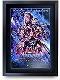 HWC Trading Avengers Endgame A3 Enmarcado Regalo De Visualización De Fotos De Impresión De Imagen Impresa Autógrafo…