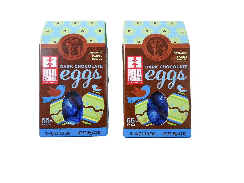 Amazon.com : Equal Exchange Organic Dark Chocolate Eggs in a Gift ...