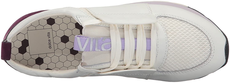 Dolce Vita Women's Yana Sneaker B072MGPHXX 8 B(M) US|White/Purple Leather