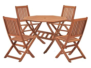 scancom uk ltd cotswold fsc eucalyptus wood outdoor 4 seater dining rh amazon co uk fsc outdoor furniture nz fsc-certified wood outdoor furniture