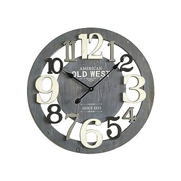 Amazon.de: Mobili Rebecca® Wanduhr Holz Grau Design Modern ...