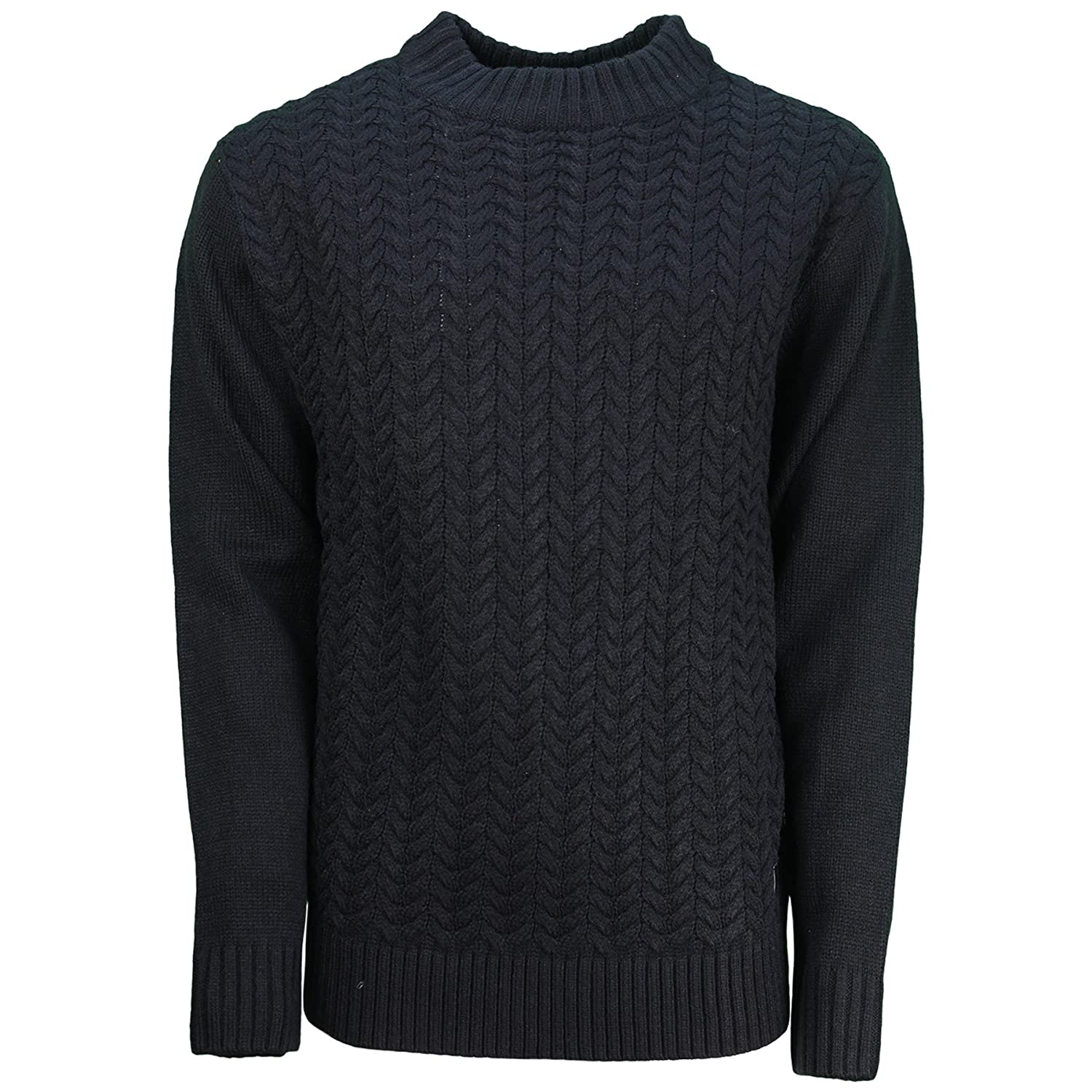 Mens SoulStar Jumper Turtle Neck Cable Knit