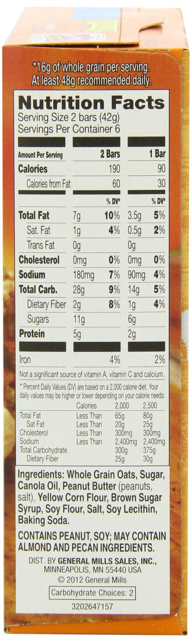 Nature Valley Granola Bars, Crunchy, Peanut Butter, 6 Pouches - 1.49 oz, 2-Bars Per Pouch (Pack of 6) by Nature Valley (Image #9)