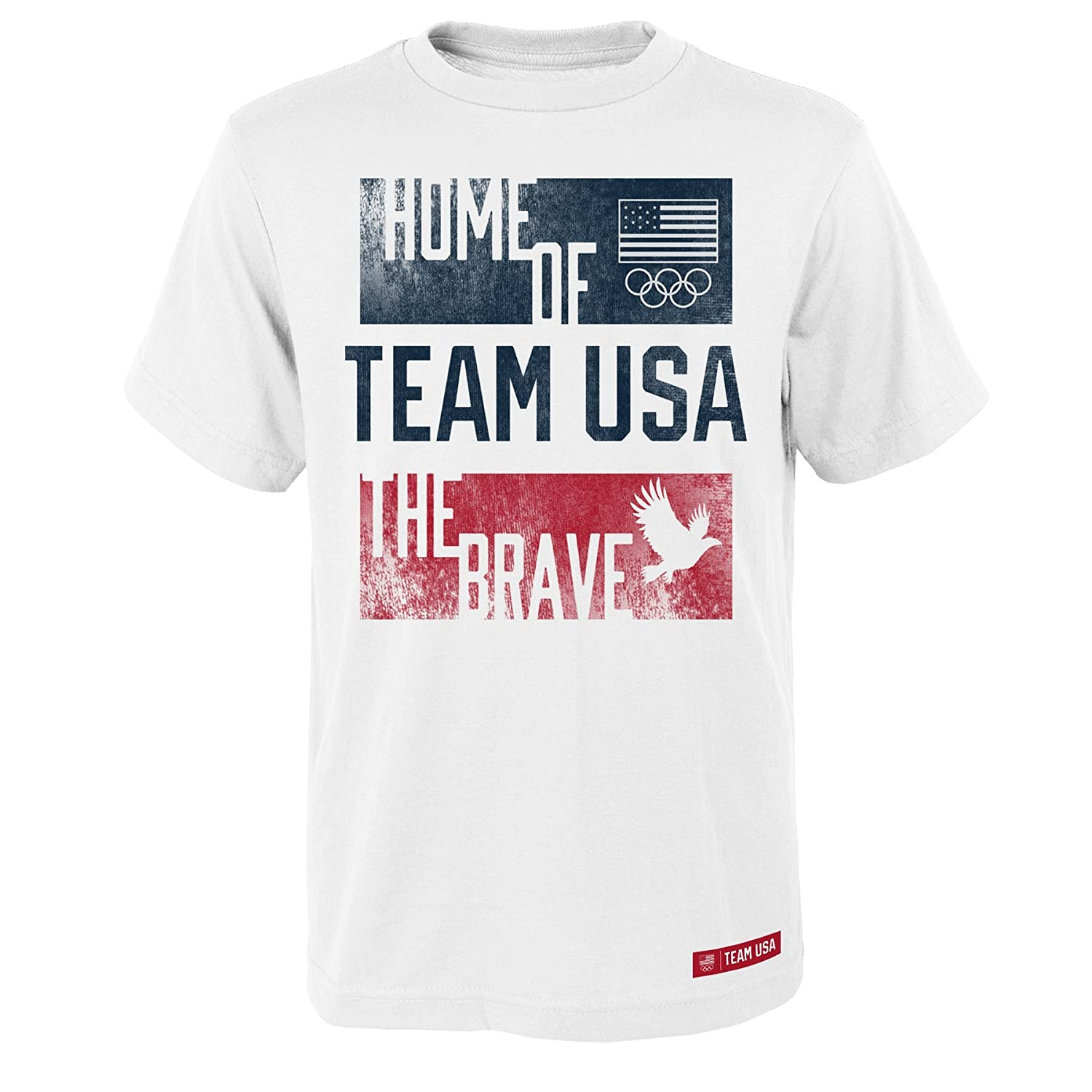 Outerstuff Boys Usoc Brave Home Short Sleeve Tee