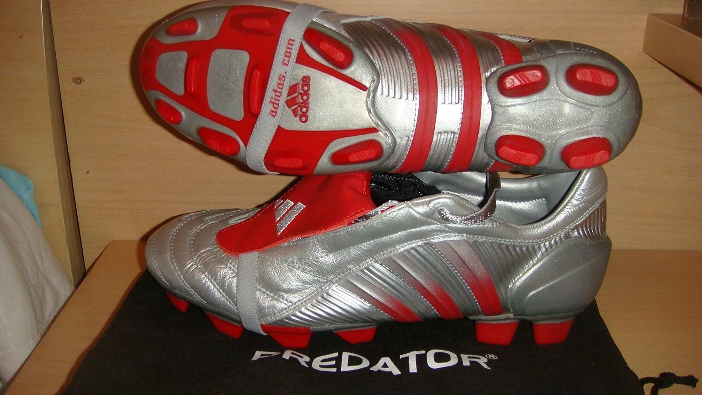 best value 97997 516f2 Mens Adidas Predator Pulse 2 TRX SG Rare Football Boots White Blue Size UK  8  Amazon.co.uk  Shoes   Bags