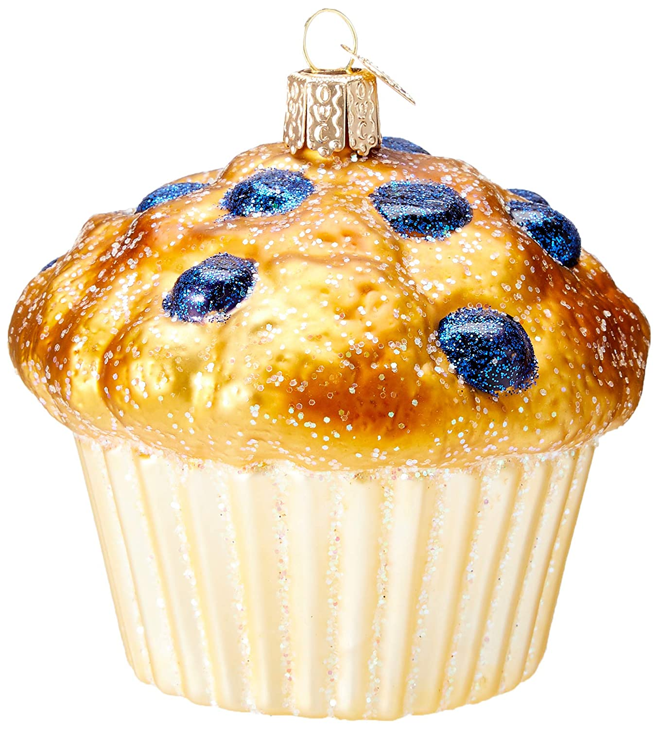 Christmas Tree Muffins: Old World Christmas Glass Blown Ornament Blueberry Muffin