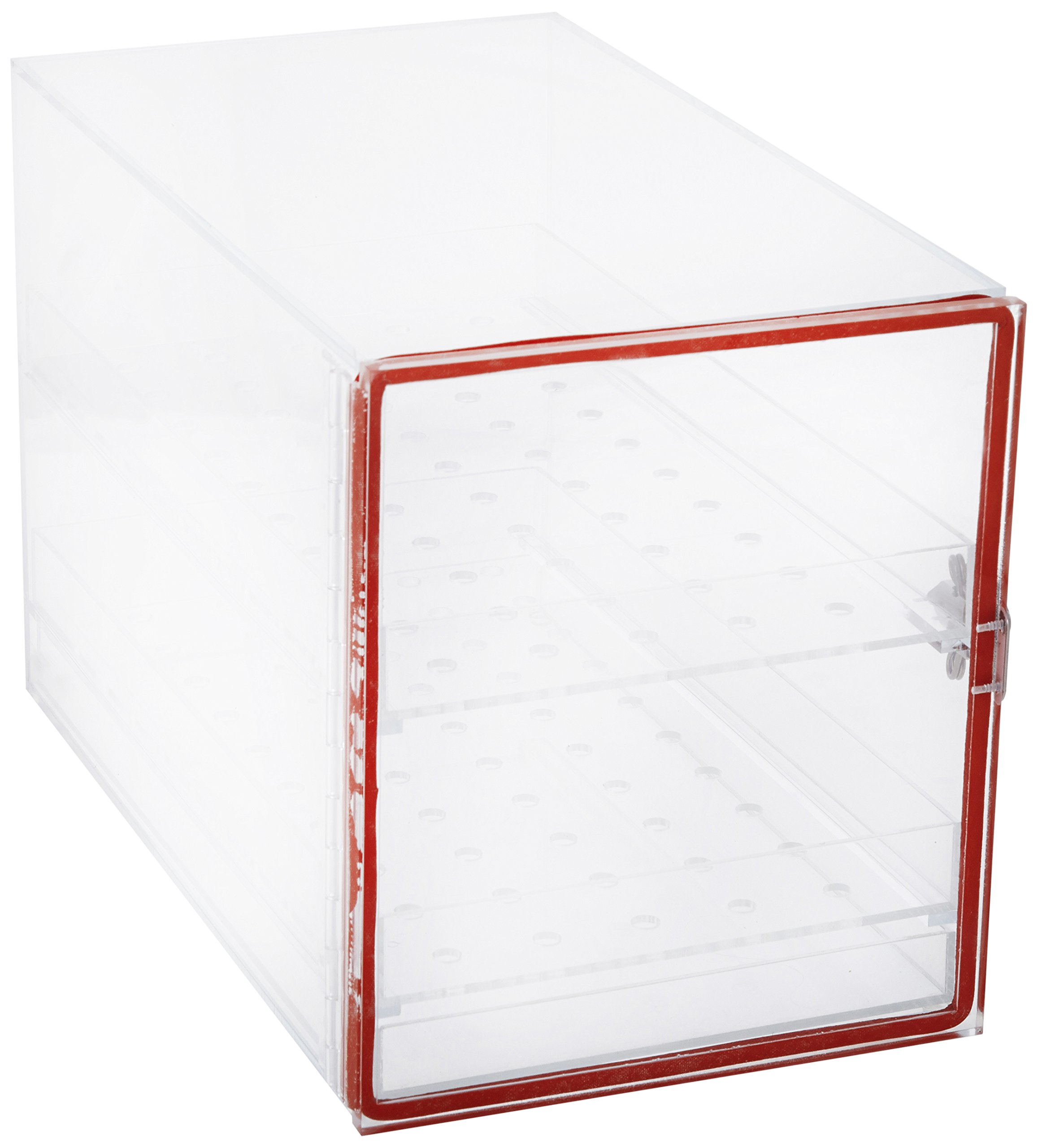 Dynalon 1212U91EA 143115 Transparent Acrylic Large Lab Desiccator Cabinet, 16'' Length x 9'' Width x 10.5'' Height