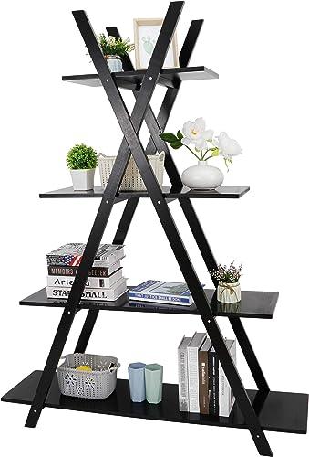 ZenStyle 4 Tier Bookshelf Storage Shelves