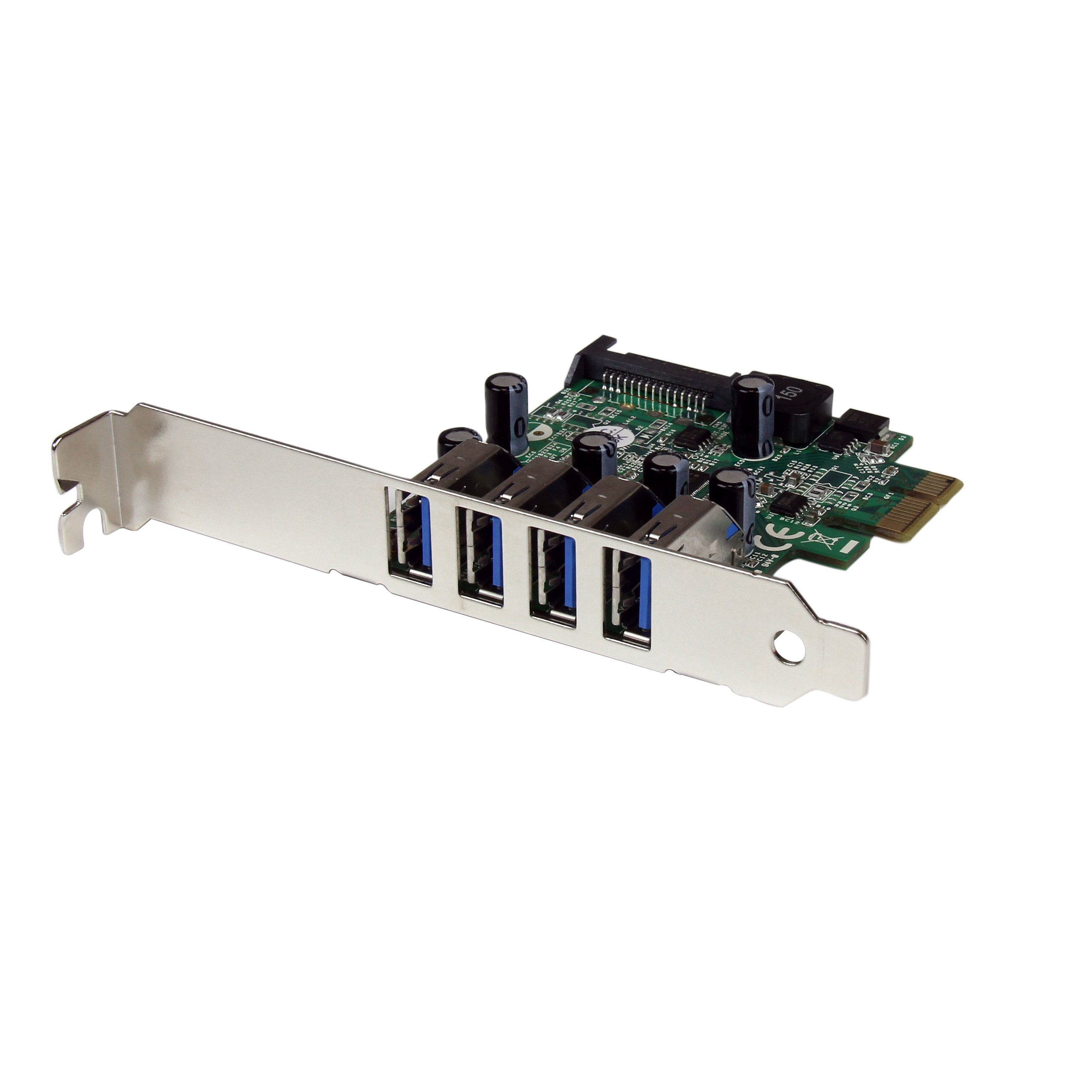 StarTech.com 4 Port PCI Express PCIe SuperSpeed USB 3.0 Controller Card Adapter with UASP - SATA Power - USB 3 PCIe Card (PEXUSB3S4V) by StarTech