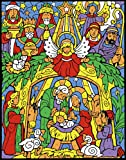 Colorful Nativity Color Your Own Advent Calendar (Countdown to Christmas)