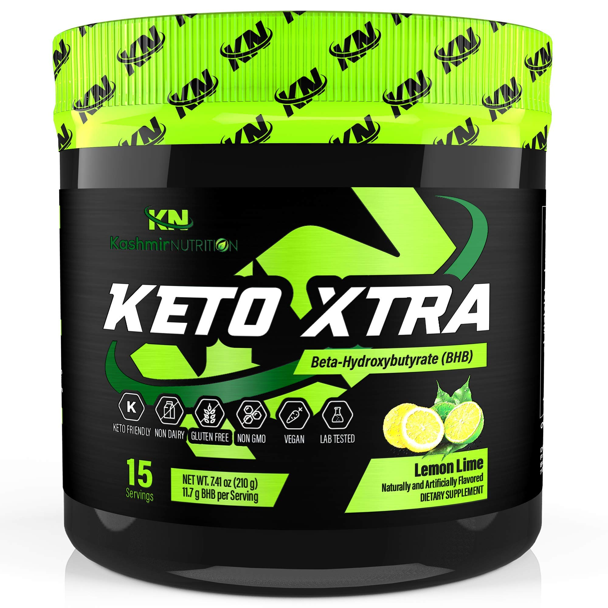 Keto Xtra Exogenous Ketones Supplement: Base BHB Salts Powder Drink Mix Perfect for Ketogenic Diet: Beta Hydroxybutyrate Formulated for Quick Ketosis, Energy, Fat Burn, and Focus: Lemon Lime by Keto Xtra