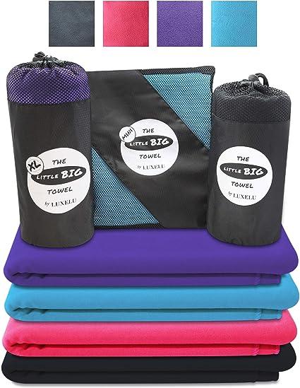2 voyages serviettes serviette en microfibre Voyage Camping Gym Randonnée 80 x 130 cm