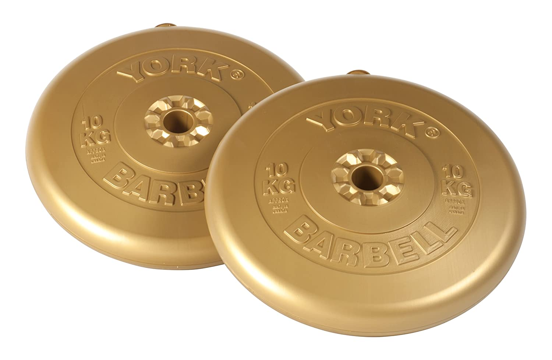 10 Kg Gold York Fitness Vinyl Weight Plates