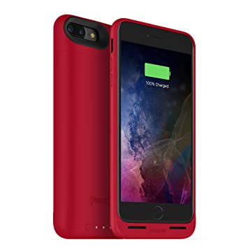 Mophie Juice Pack Air Battery Case compatible con cargadores inalámbricos para Apple - iPhone 7/8 Plus, Rojo