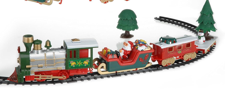 viscio Trading 172492Petit Train de Noël, plastique, multicolore, 90x 42x 1cm