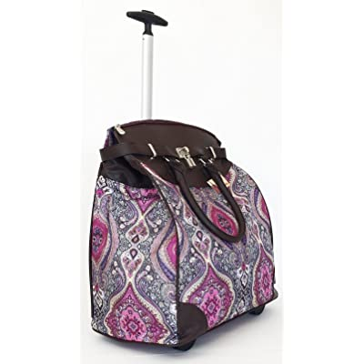 Trendy Flyer Computer/Laptop Rolling Bag 2 Wheel Case Taj Fuchsia new