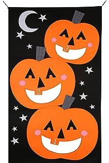Amazon Com Shindigz Pumpkin Bean Bag Toss Toys Games