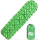INFLATING LIGHTWEIGHT SLEEPING PAD BY TNH OUTDOORS. COMPACT FULL SIZE INFLATABLE AIR MAT FOR BACKPACKING HIKING OR CAMPING. THICK PADDING SELF COMPRESSIBLE SLEEP PAD FOR OUTDOOR COMFORT!