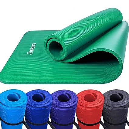 ScSPORTS Esterilla de Yoga Pilates Verde 190 x 100 x 1,5 cm ...
