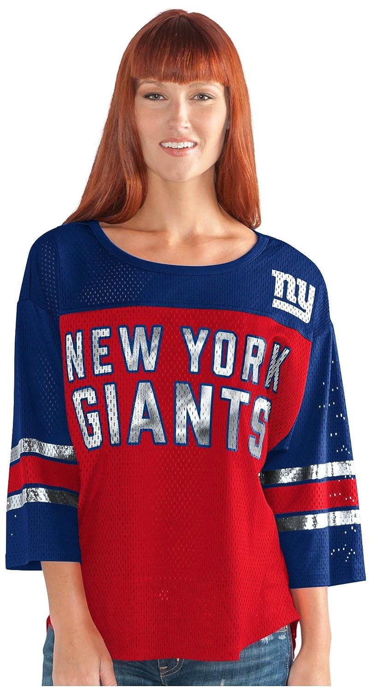 最初チームメッシュトップ B073ZTWYVD 3L|レッド/ ブルー|New York Giants レッド/ ブルー 3L