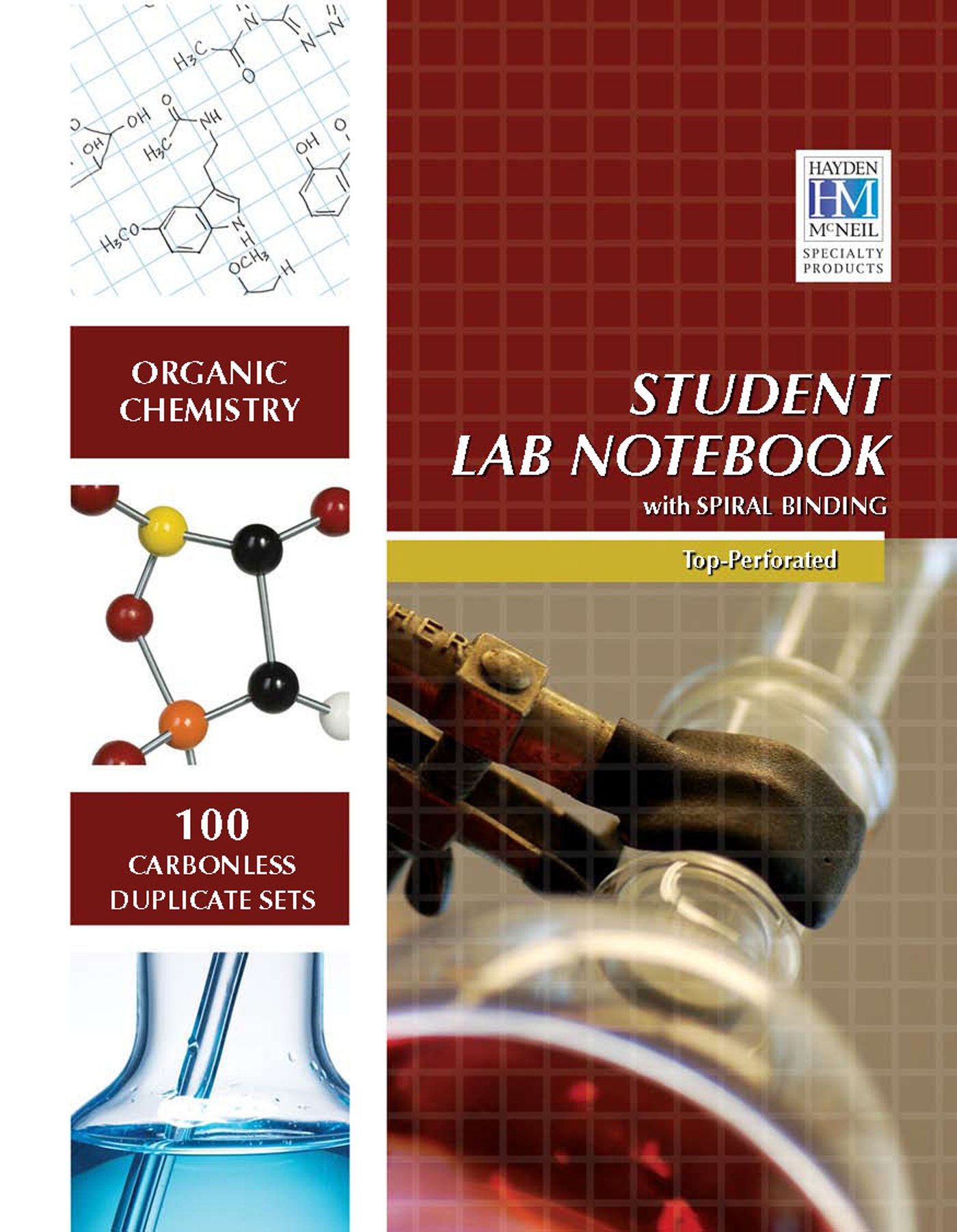 Organic Chemistry Student Lab Notebook: Hayden McNeil: 9781429275996:  Amazon.com: Books