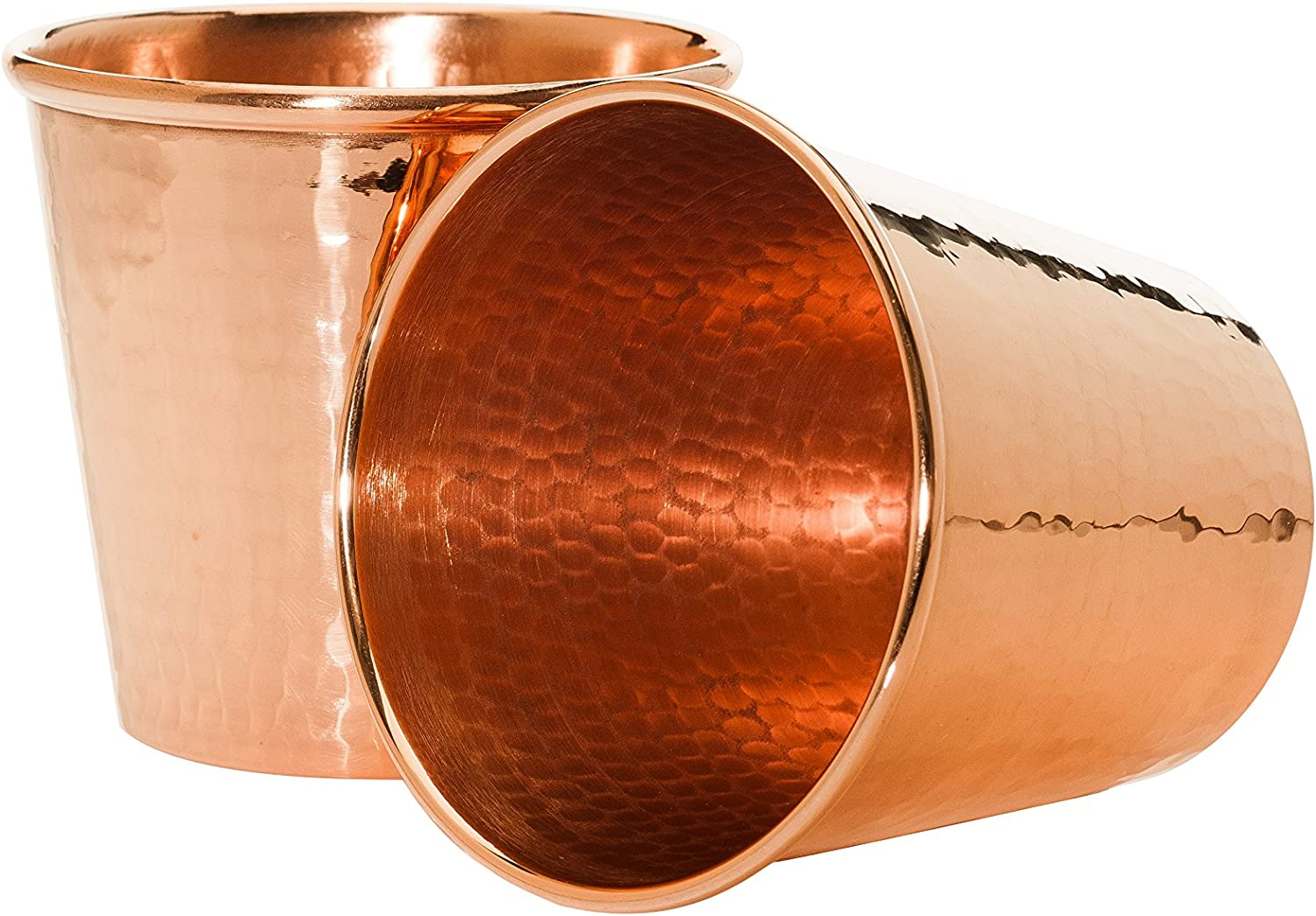 Sertodo Copper Cc 12 2 Moscow Mule Mug Without Handle Hand Hammered 100 Pure Copper Apa Cup 12 Oz Set Of 2 Kitchen Dining