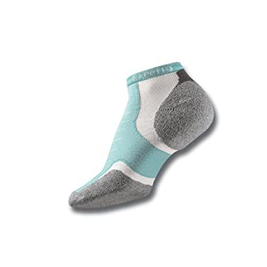 720291045 Thorlos Experia Unisex-Adult's Thin Padded Running Low Cut Socks, spearmint  Extra Small