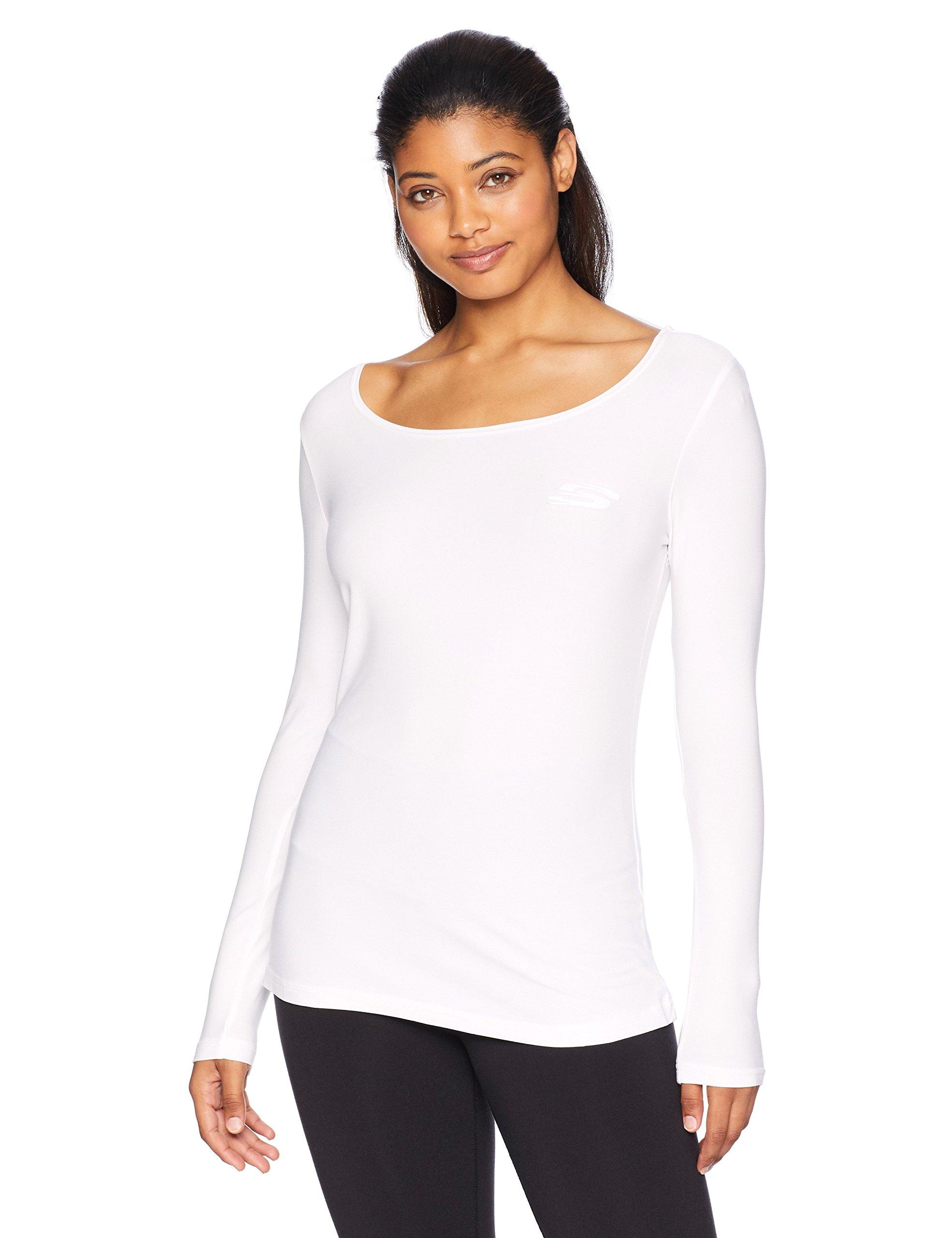 Skechers Active Women's Twist Back Long Sleeve Top, White, XS