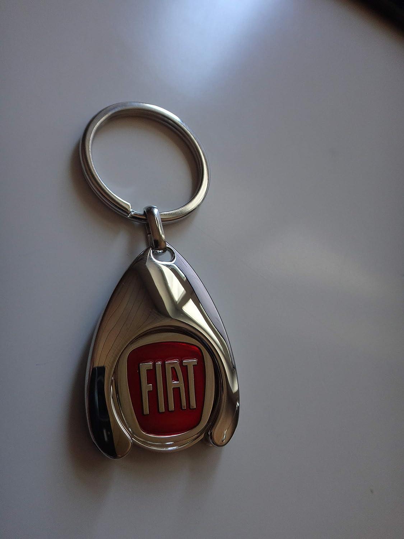 Fiat Llavero con Moneda para el Carro de la Compra Chip ...