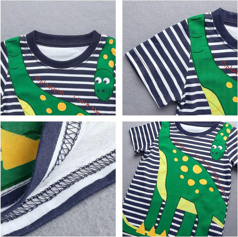 6 Anni Nwada Tuta Bambino Completo Maglietta e Pantaloncini Set Felpa Pigiama Primavera Abbigliamento Estate Vestiti Festa 18 Mesi