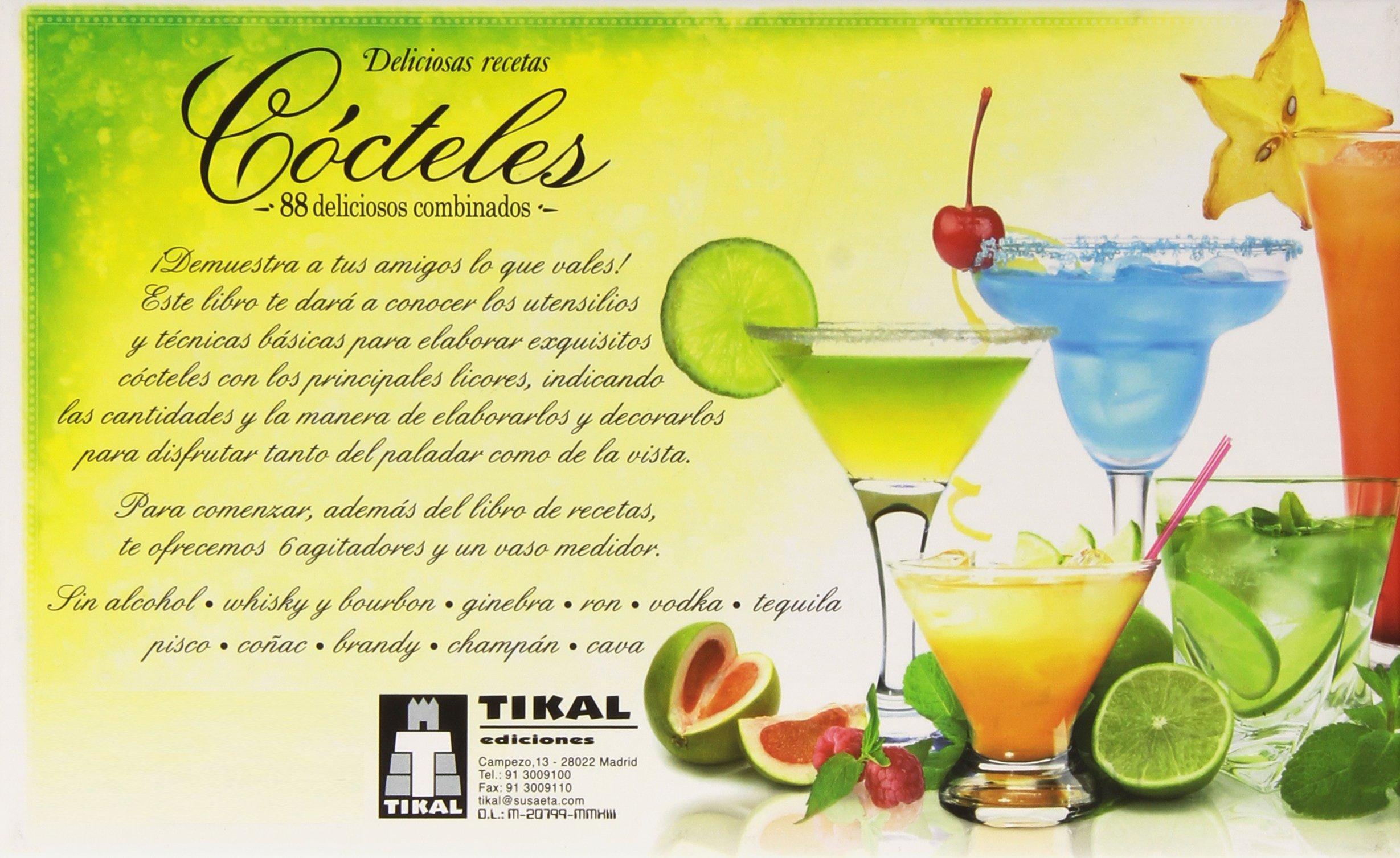 Cócteles (Deliciosas recetas): Amazon.es: Tikal, Equipo: Libros