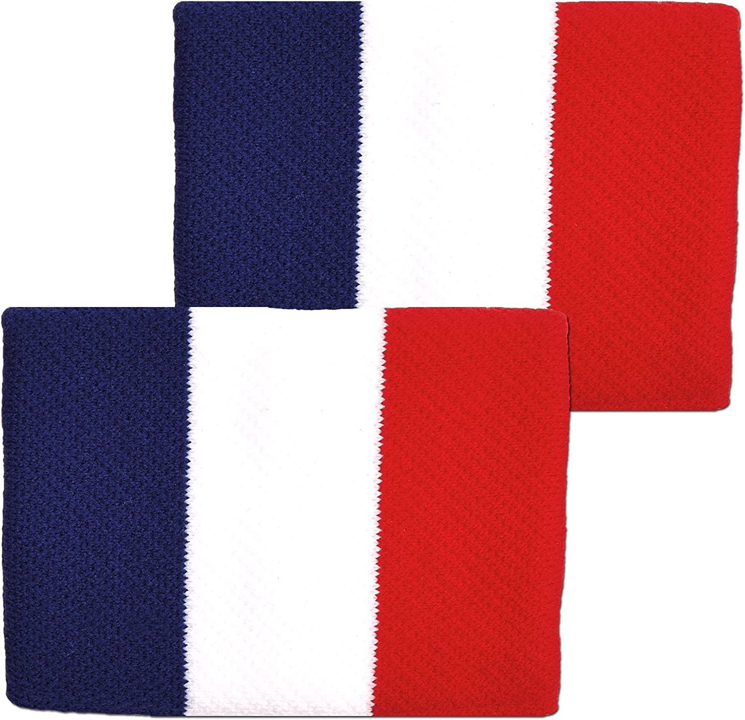 Unique Sports France Flag 4-inch Wristbands