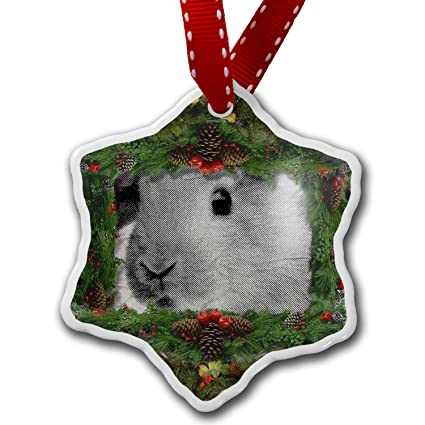 neonblond christmas ornament bunny rabbit