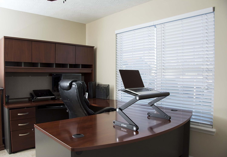 Portable Adjustable Aluminum Laptop Desk//Stand//Table Vented Notebook-MacBook-Ult