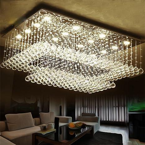 Mejor candelabro de cristal Led Au Salon luces Lámparas de ...
