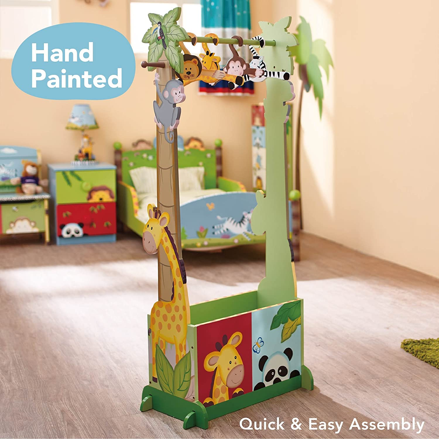 Fantasy Fields  Sunny Safari Themed Wooden Dress Up Storage