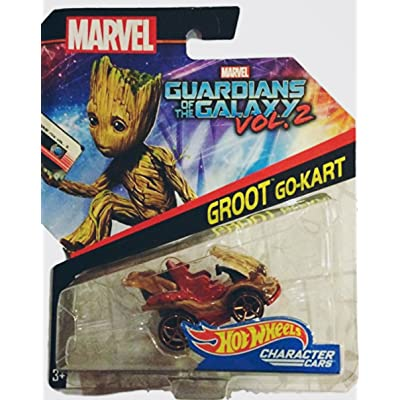 Hot Wheels 1:64 Marvel Character Car Guardians of the Galaxy Groot Go-Kart DXM05-0910: Toys & Games