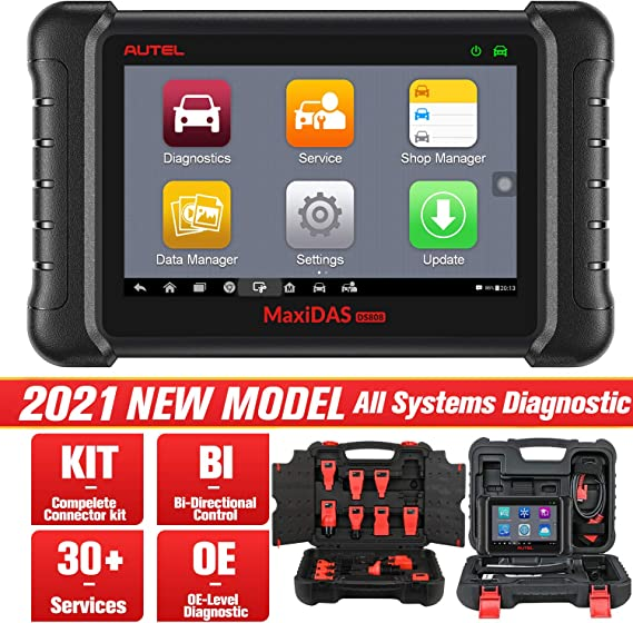 Autel Maxidas Ds808k Obd2 Diagnostic Tool With Oe Level Diagnostic For All Systems 25 Services Bi Directional Control Same Functions As Ms906 Auto
