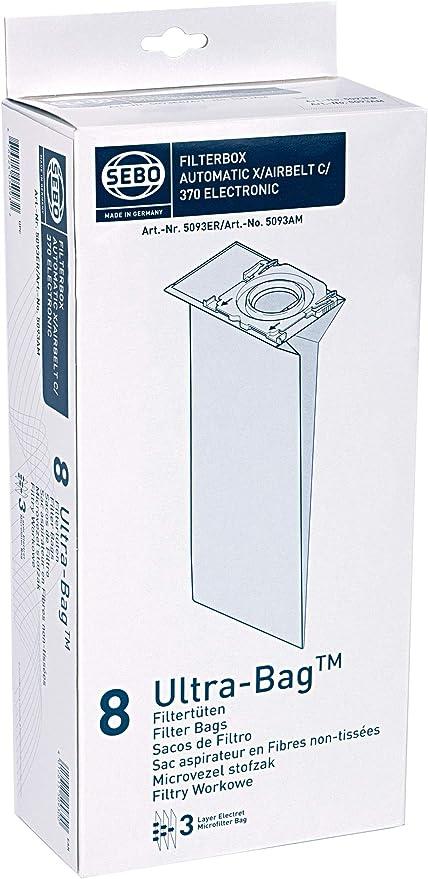Sebo Filterbox 370//x//c 30 X Aspirateur Sacs Art G Appareils 5093er Pour Sebo X C